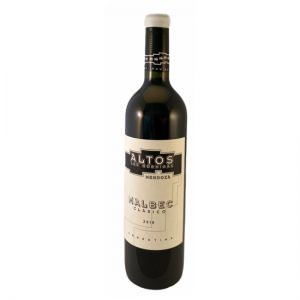 Bottle of Altos Malbec