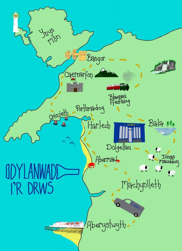 Dylanwad Delivery Map